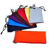 Da.Wa 10 Piezas Bolsas de Joyas Gafas de Bolsillo de Moda Gafas de Sol Bolsa PU Bolsa para el Teléfono Móvil Gafas Colores Aleatorios
