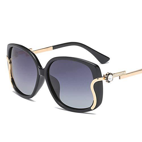 Saplnu Sonnenbrille Aviator für Frauen, Sonnenbrille für Frauen Cat Eyes Uv400-Schutz, polarisierter UV-Schutz, geeignet für Reisen, Party, Retro-Mode,Gray