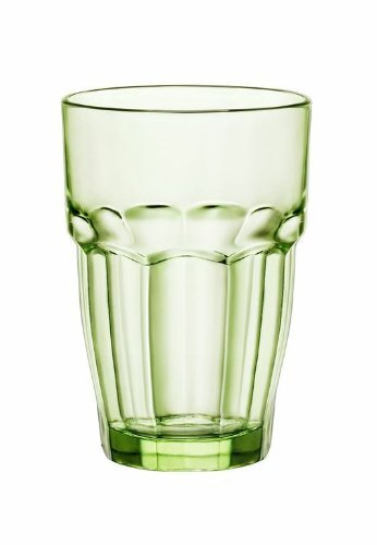 Bormioli Rocco Rock Bar Lounge Long Drink Glasses, Mint, Set of 6 by Bormioli Rocco Bormioli Rocco Rock Bar