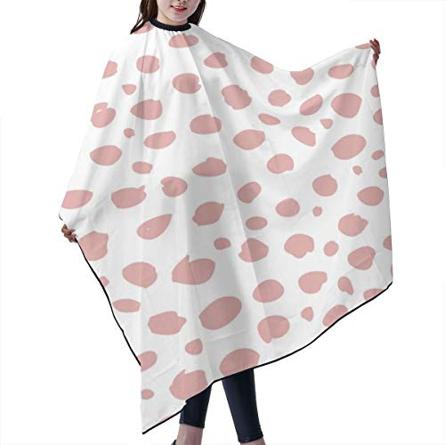 Barber Cape,Cool Abstract Leopard Dalmatian Dots And Spots Scandinavian Style Gender Neutral Coral Peach Salon Polyester Cape Haircut Apron 55