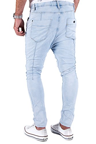 Jogg Jeans Herren Hose Urban Surface Joggjeans Denim Slim Fit Chino Sweatpants Jogger Sweathose Hellblau