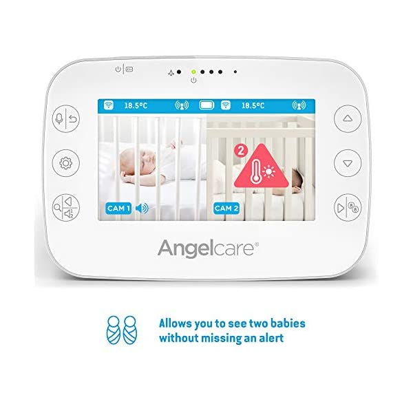 Angelcare Ac320 Baby Video Monitor Angelcare 4.3'' Large led screen Ideal for multiples & toddler, you can add an extra nursery unit* Wall-mount or tabletop nursery unit 3