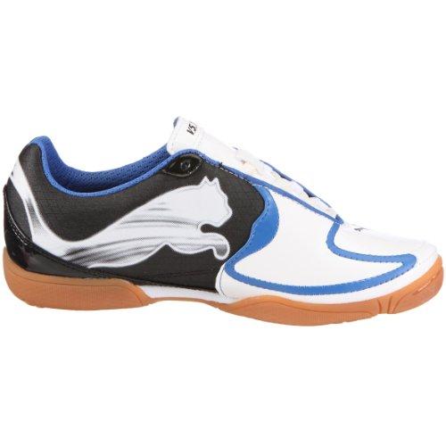 PUMA 101833 08 v5.10 IT Jr, Jungen Sportschuhe - Fußball Weiss (White Pearl-Black-Puma Royal)