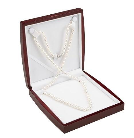 AAA 7,5–8mm Blanc Collier de perles de culture de 36en Opéra