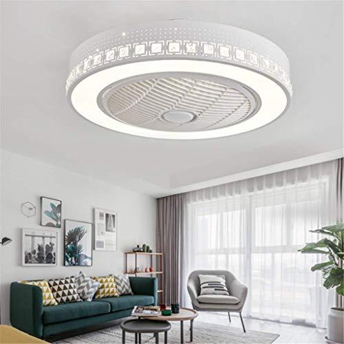 Ventilador de techo LED con mando a distancia regulable, ventilador de techo silencioso,...