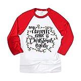 HeziCat Natale T-Shirt Girocollo a Manica Lunga Donna T-Shirts Costume da Babbo e Elfo Donna Simpatica Renna nelle luci di Natale Maglietta per Bambini e Ragazzi Pullover Abiti Donna Eleganti