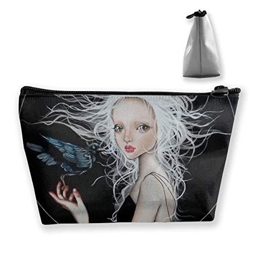 Goth Gotik Gothic Women Girl Art Black Kosmetiktasche Makeup Storage Bag Toiletry Organizer Pencil...