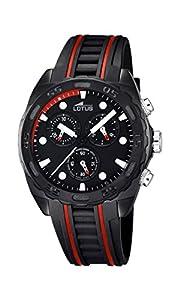Lotus 18159/6 - Reloj de pulsera hombre, Caucho, color Negro