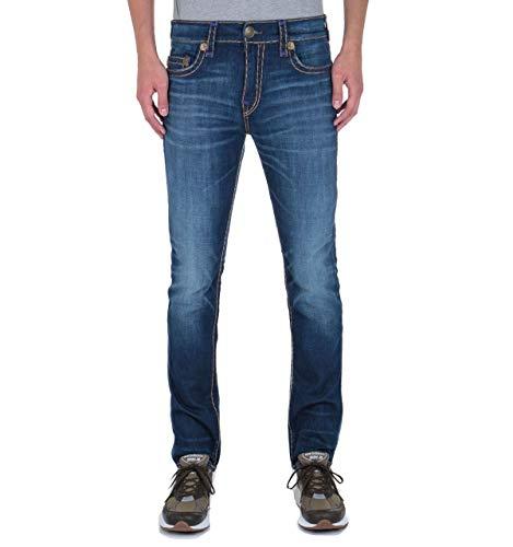 True Religion Rocco - No Flap - Entspannte, dünne, tiefblaue Super-T-Jeans