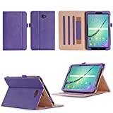 Samsung Galaxy Tab A 10.1 Case,VOVIPO Premium Leather Cover Stand Protective Folio Case For Samsung Galaxy Tab A 10.1 T580/T585 With Handstrap And Cornor Protection (Purple)