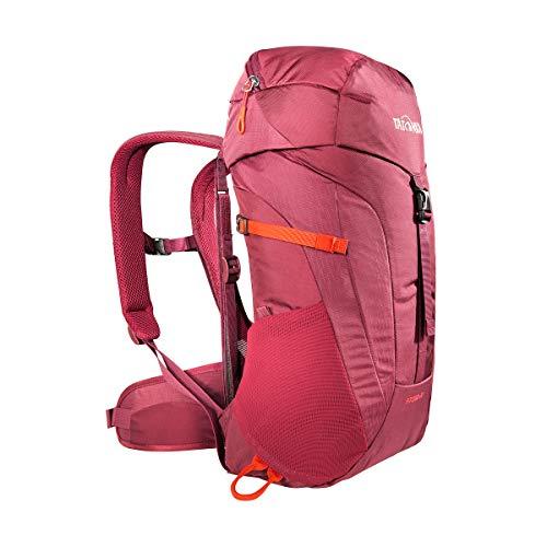 Tatonka Storm 20 Wanderrucksack mit Rückenbelüftung und Regenhülle - Frauen - Männer - 20 Liter - bordeaux red