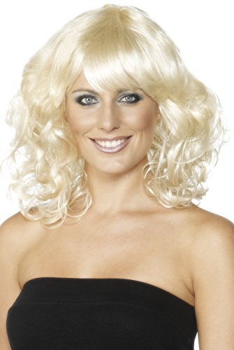 Perücke, One Size, Blond, 42126 (Glamour Girl Halloween-kostüm)