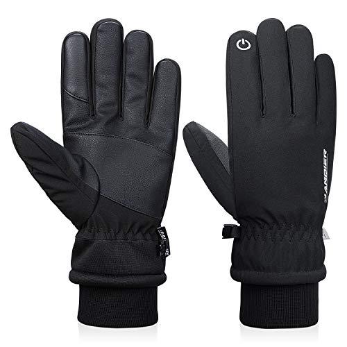 anqier Winterhandschuhe Herren Damen Touchscreen Fahrradhandschuhe Männer Winter Wasserdicht Gloves Thinsulate Handschuhe für Reiten Laufen Skifahren Wandern Radfahren Motorrad