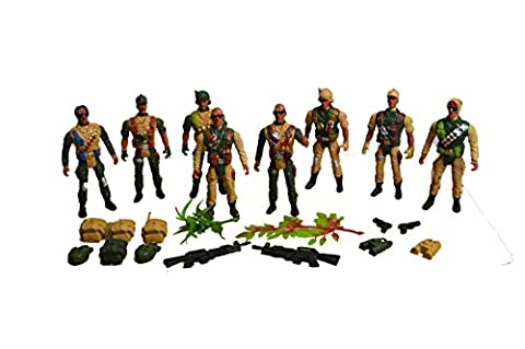 Toy Soldier Army Figures - Combat Fighter Set Action Man Tank Soldier Fighter