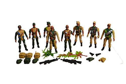 Image of Toy Soldier Army Figures - Combat Fighter Set Action Man Tank Soldier Fighter