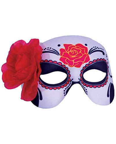 Erwachsene Kostüm Lebende Damen Tote Für - Horror-Shop Dia de los Muertos Augenmaske für Damen