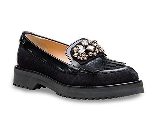 Mocassini Car Shoe donna in pelle di vitello nero - Codice modello: KDD22L LZH F0002 - Taglia: 36 IT