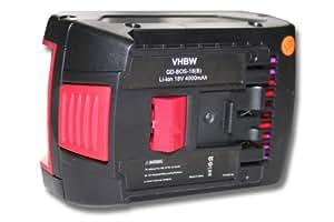 vhbw Batterie 4000mAh (18V) outil Bosch GDS 18V-LI HAT, GGS 18 V-LI, GSA 18 V-LI, GSB 18 VE-2-LI, GSB 18 V-LI, GSB 18-2-LI, GSB 18v-li, GSK 18 V-LI
