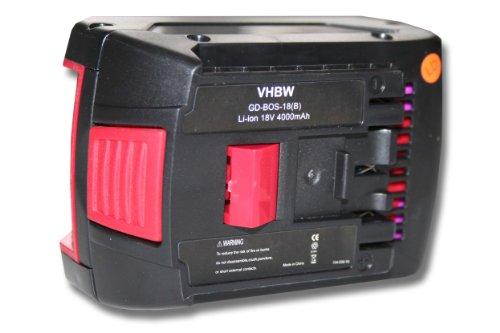 Preisvergleich Produktbild vhbw Li-Ion Akku 4000mAh (18V) für Werkzeug Bosch GML SoundBox, Bosch GML20, GML50, GSR 18 VE-2-LI, GSR 18 V-LI, GSR 18-2-LI wie Bosch 2 607 336 091.