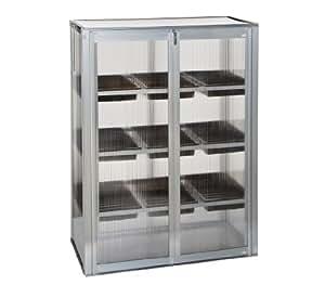 Dehner serre en aluminium avec fen tre d 39 a ration env for Aeration fenetre aluminium