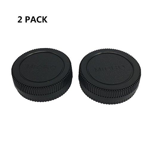 HomyWord 2 Stück Hinterer Len-Abdeckungssatz für Gehäusedeckel für Micro 4/3 DSLR-Kameras und Micro 4/3-Mount-Objektive für Olympus E-PL5, E-PL6, EPL-7, E-PL8 (3 Kamera Micro 4)