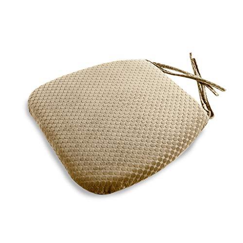 HC&WT Memory Schaum Stuhl-pad, Langsame erholung plüsch Komfort Anti-rutsch Essen bürostuhl Sitzkissen Stuhl-Matte Entlastung von steißbein-Leicht tan 42x45x4.5cm(17x18x2inch) -