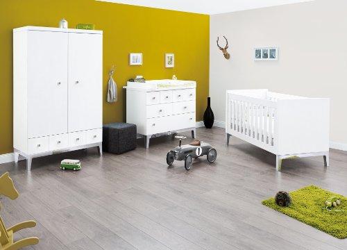 Pinolino Vision Nursery Set di mobili (Wide, (Biancheria Oak Bed)