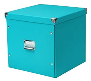 zeller 17639 aufbewahrungsbox pappe 33 5 x 33 x 32 cm t rkis k che haushalt. Black Bedroom Furniture Sets. Home Design Ideas