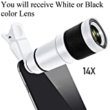 Mobicell Mobile Phone Camera Lens, 14X Zoom HD Telephoto Lens Compatible for iPhone