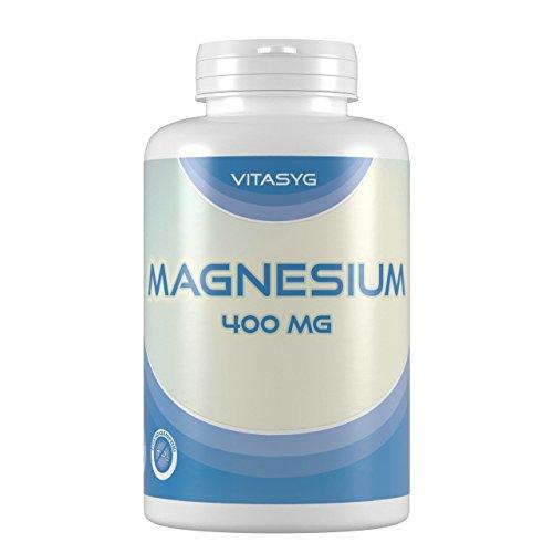 Vitasyg Magnesium 400-300 Kapseln (10 Monatsvorratdose) mit 400mg reinem Magnesium pro Kapsel - ohne...