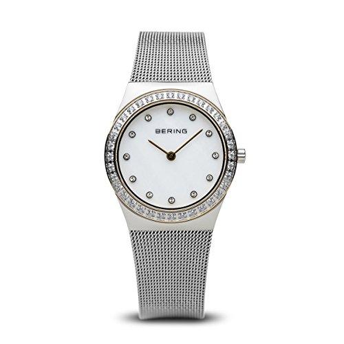 BERING Damen-Armbanduhr Analog Quarz Edelstahl 12430-010
