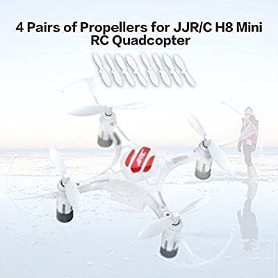 Swiftswan 4 Pairs Drone Propellers Parts Portable CW/CCW Propellers Eachine JJR/C H8 Mini RC Quadcopter