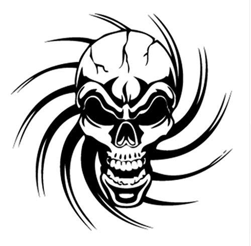 EROSPA® Tattoo-Bogen temporär - Sticker - Totenkopf / Schädel / Knochen