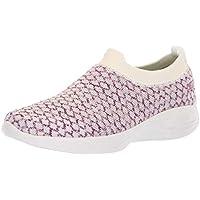 Skechers Performance Women's You-15806 Sneaker,white/pink,8 M US