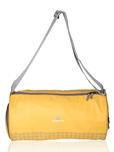 Cosmus Polyester 26 Litres Yellow Gym Sports Duffel