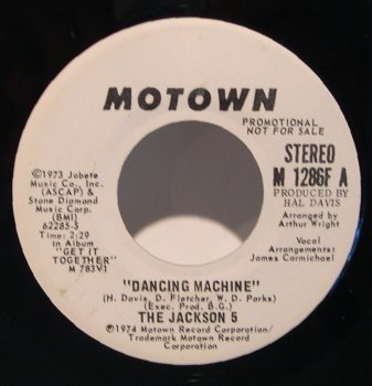 dancing machine / mono 45 rpm single (5-dancing Jackson Machine)