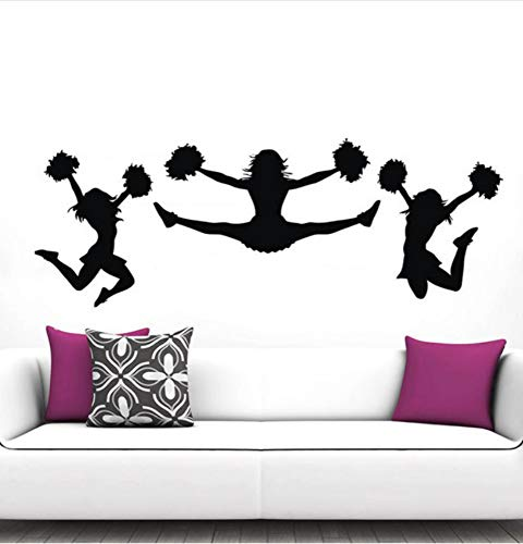 Mrhxly Ich Jubeln Wandtattoos Gym Sport Mädchen Cheerleader Wand-Dekor Poster Kunst Aufkleber Wandbilder Vinilos Paredes Home Design Dekoration 40 * 110Cm