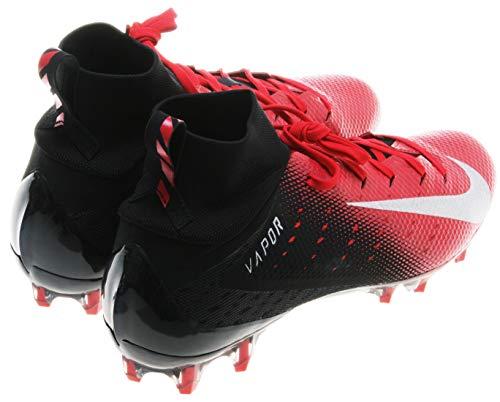 NIKE Men's Vapor Untouchable 3 Pro Football Cleats (10, Black/Red) (Cleats Nike 10 Football)