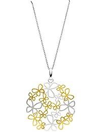 Laimons Premium Colgante para mujer enjambre de mariposas Mate y pulido Dorado Plata de ley 925