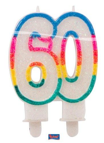 Folat Glitter Vela 60Cumpleaños, Aniversarios