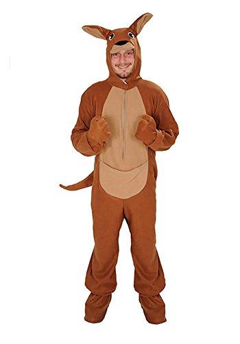 Känguru offen Einheitsgrösse XXXL - XXXXL - Super Size Kostüm Fasching Fastnacht für Personen bis 2,0 Meter - Super Size Kostüm