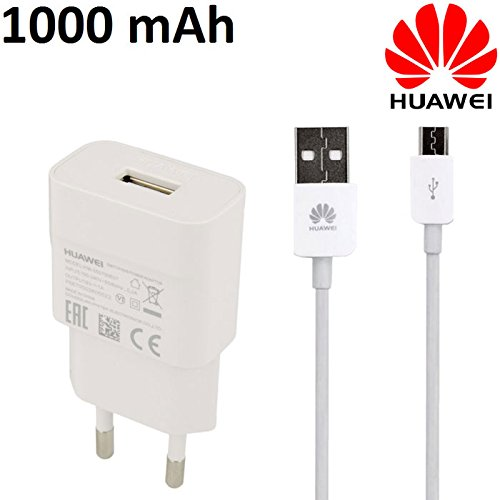 Travel maison usb hw-050100e01+ Câble USB Longueur 1m original pour Huawei Y560, P8lite–1000mAh Blanc Bulk
