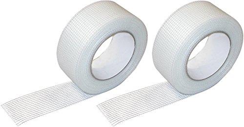 Glasfaser Gewebeband selbstklebend, 2 Rollen 50 mm x 45m