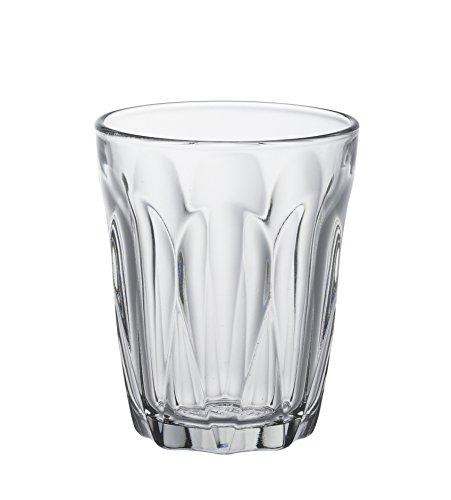 Duralex 1036AB06 Provence Schnapsglas, Shotglas, Stamper, 90 ml, Glas, transparent, 6 Stück Glas Serveware
