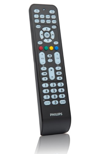 Philips SRP2008B - Mando a distancia universal (Botones para acceso rápido, compatible con mas de 800 dispositivos), Negro