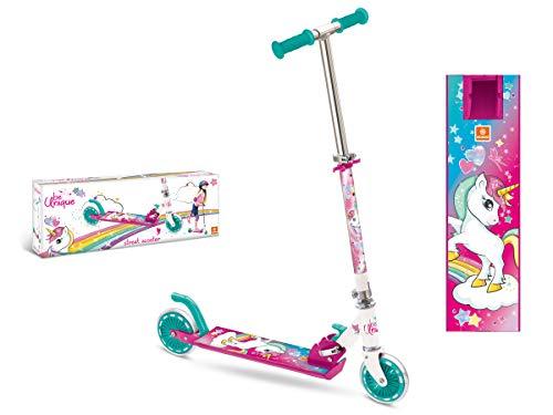 Mondo- be unique unicorn monopattino in alluminio a 2 ruote, multicolore, m, 28515