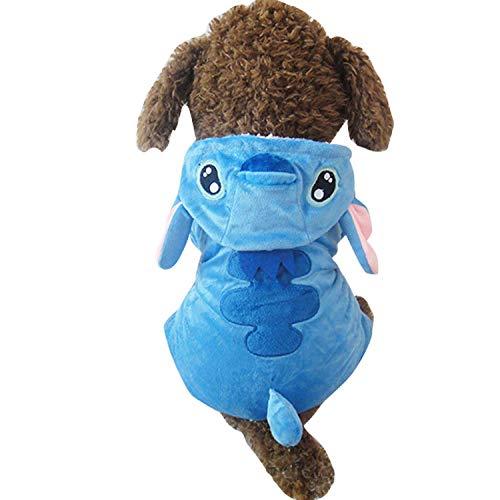 OVCK PET CARE Hund Kostüm Weihnachten Halloween Herbst Und Winter Mantel Kleiner Mittlerer Hund Hund Kleider Warm/Blau/M (Butler Kostüm Muster)