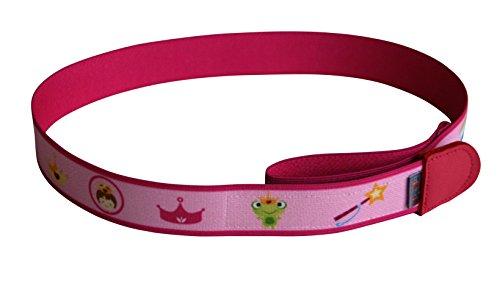Ed&Kids Kindergürtel ohne Schnalle | Prinzessin (Größe S) | elastisch | größenverstellbar | Made in Germany (Mädchen Schnalle)