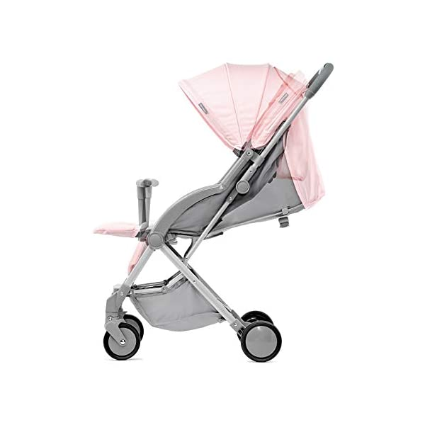 Kinderkraft Lightweight Stroller LITE UP, Baby Pushchair, Buggy, Compact Folding, Ajustable Footrest, Lying Position, with Accessories, Rain Cover, Footmuff, from Birth to 3.5 Years, 0-15 kg, Rosa kk KinderKraft Mechanism for easy folding with one hand After folding, the stroller resembles a briefcase You do not have to stop and move around the stroller to make eye contact with the child 4