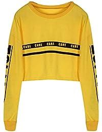 Tonsee Femmes Mode Blanc Lettre Imprimer Surgir Sweat-shirt Top Blouse